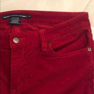 Red Ralph Lauren Cord Jeans